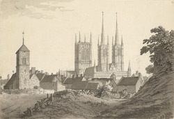 Lincoln Cathedral, from the west